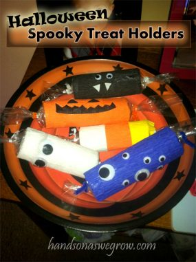 Spooky Treat Holders Halloween Craft for Kids