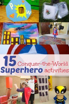 Superhero activities for kids - great list of easy activities!Superhero activities for kids - great list of easy activities!