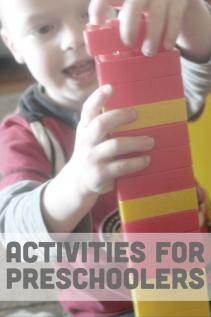 Lots of fun activities for preschoolers!