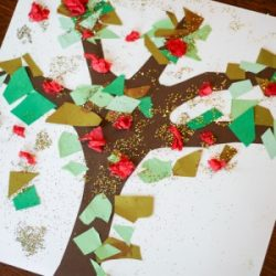 Apple tree craft for kids to make