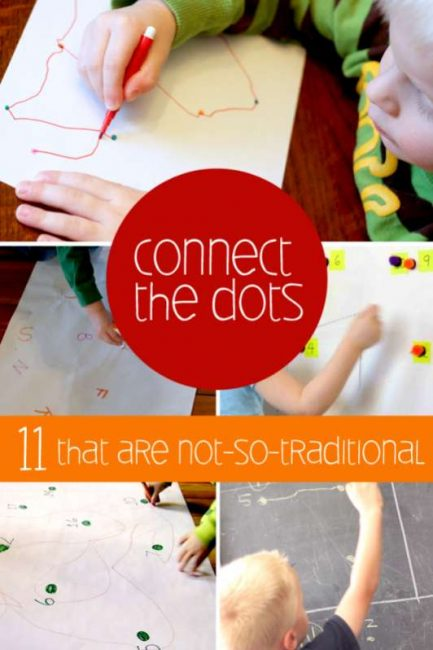 11 not-so-traditional ways to do Connect the Dots activities with the kids