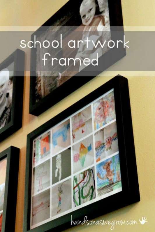 Display Kids Artwork from School in One Spot