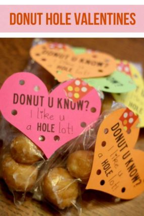Donut Hole Kids Valentines Free Printable