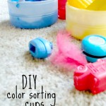 DIY Cups for Color Sorting Activities