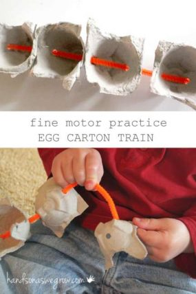 What Can We Use Egg Cartons For? Make a Train