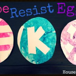 Tape Resist Easter Egg Craft from House of Burke