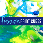 Paint with Frozen Paint Cubes on a Hot Day