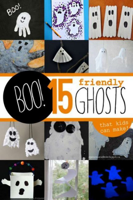 15 friendly ghost crafts that kids can make for Halloween - not to spooky at all!