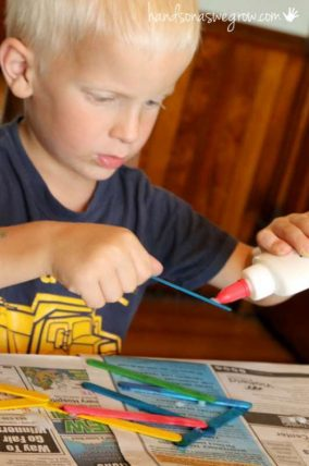 gluing-craft-sticks-activity