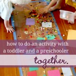Doing an Activity with Both a Toddler & Preschooler? These 3 Questions Help Me