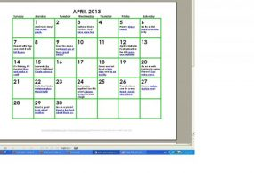 Get a Free April Activity Calendar