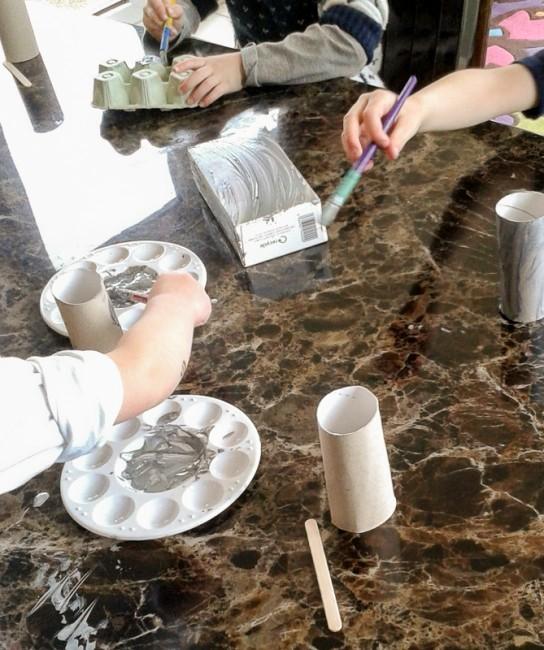 Painting materials for junk art robot