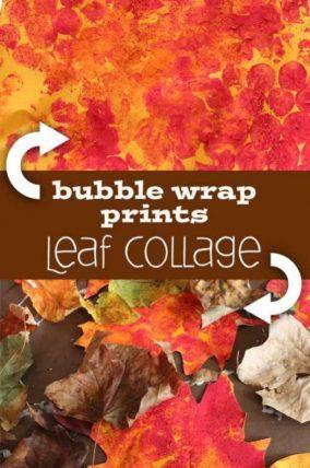 leaf-collage-bubble-wrap-art