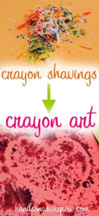 Melted Crayon Art: Crayon Shavings