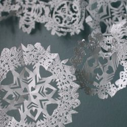 Doily Snowflakes