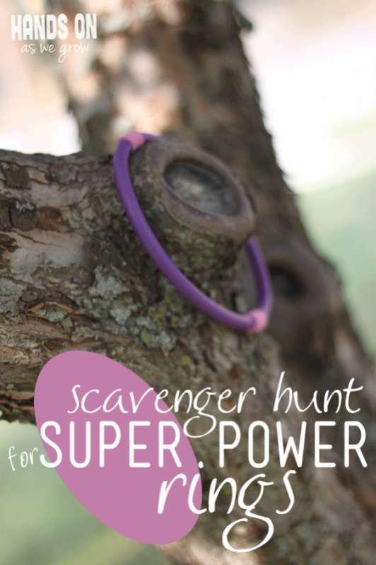 super power rings scavenger hunt for kids. Black Bedroom Furniture Sets. Home Design Ideas