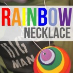 A Rainbow of Circles Necklace