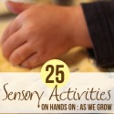 25 sensory activities for kids