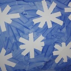 Tape Resist Snowflakes