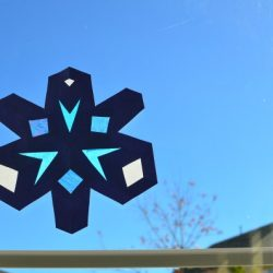 Stained Glass Construction Paper Snowflake