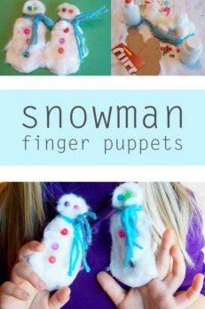 snowman finger puppets