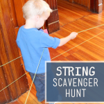 Follow-the-String Indoor Scavenger Hunt for Kids