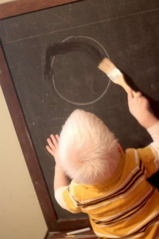 Tracing Letters Amp Shapes On The Chalkboard