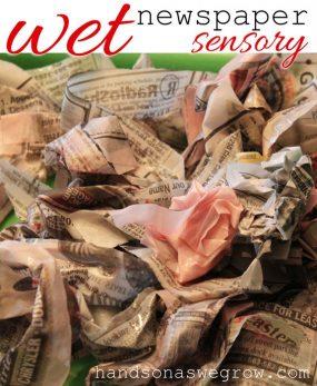 wet-newspaper-sensory-activ