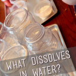 """What Dissolves in Water?"" Experiment for Kids from the Pantry"
