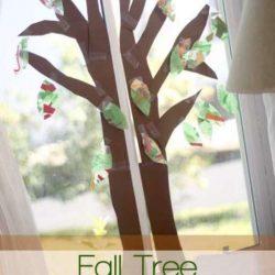 Window Fall Tree Craft