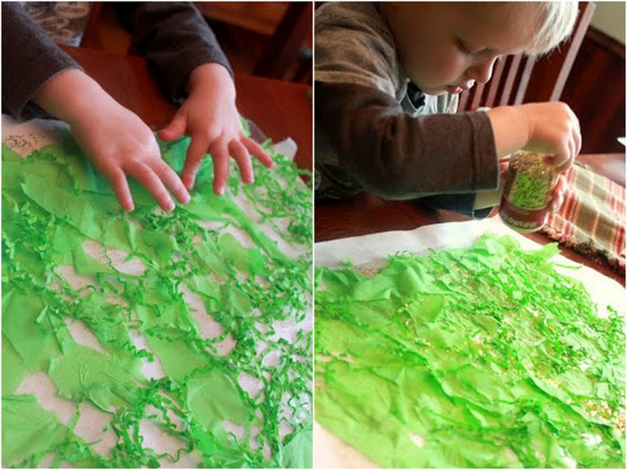 easy toddler shamrock window craft for st patrick s day