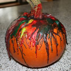 Crayon melt. One of the 40 pumpkin activities for kids.