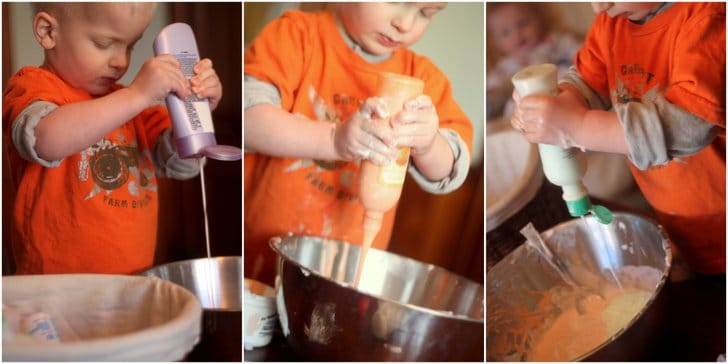 Reuse Lotion for a Smelling Sensory Activity