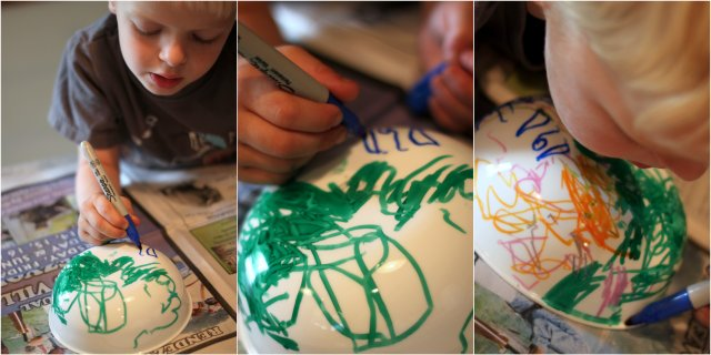 Decorating and writing on cereal bowls