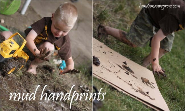 Mud Handprints