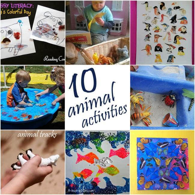 10 Animal Themed Activities for Kids
