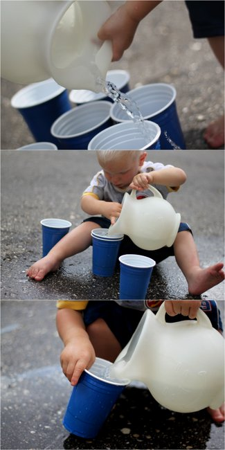 Toddler Life Skills Practice Pouring Water