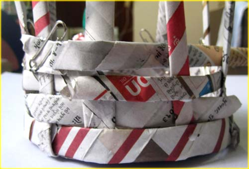 Craft A Paper Basket With Your Kids From Yellow Giraffe Blog