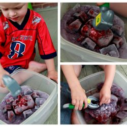 Frozen excavation sensory exploration for kids