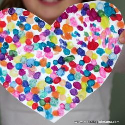Melted Crayon Heart Valentine Craft
