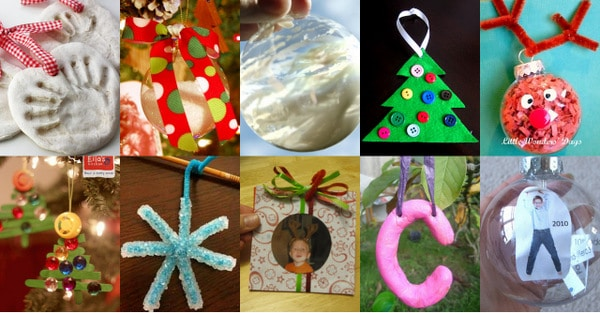 ideas for christmas pictures of toddlers - 30 Homemade Ornaments for the Kids
