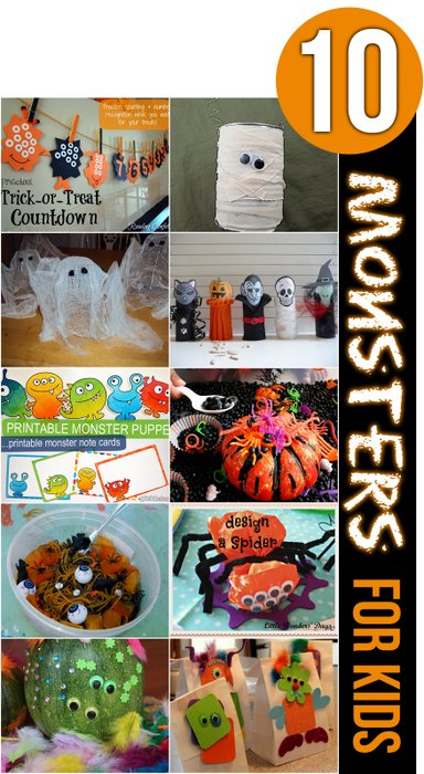 10 Halloween Monsters for Kids