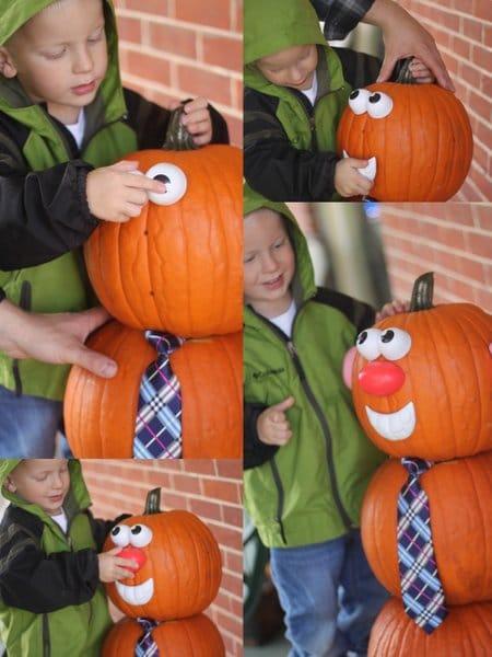Give Mr. Pumpkin Man a face