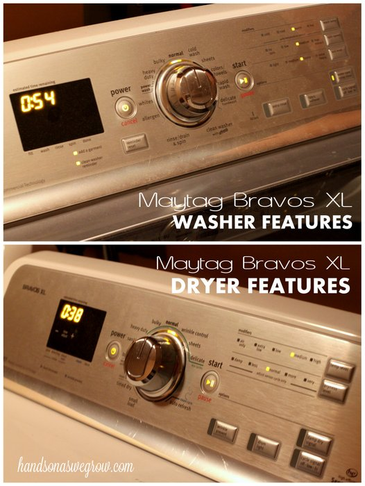 Maytag Bravos XL Washer & Dryer Features #maytagmoms