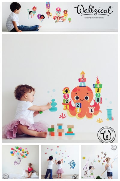 More Wallzical wall decals for kids