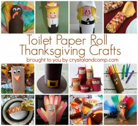 12 Toilet Paper Roll Thanksgiving Crafts from Crystal & Co