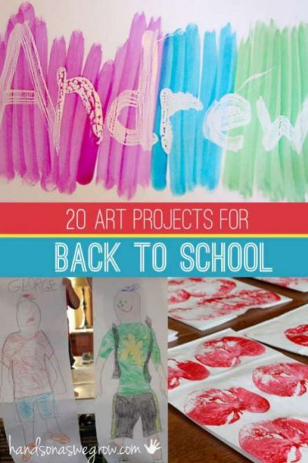 20 Back To School Art Projects For Kids Do