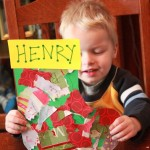 Toddler Craft: Wrapping Paper Stocking