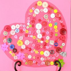 Button Heart Valentine Craft - 1 of the 21 Valentine Crafts for Preschoolers
