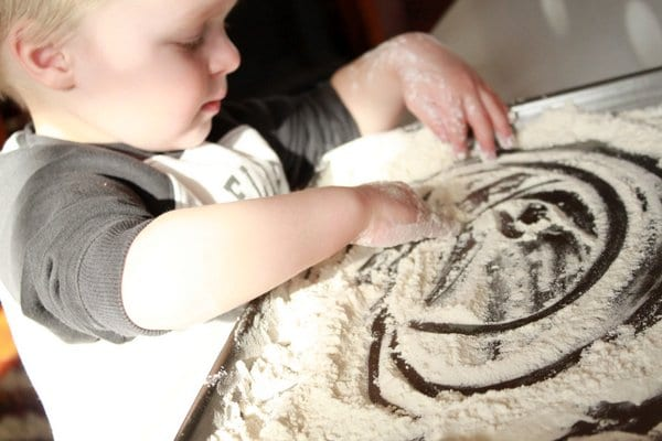Flour Play Sensory Activity for Toddlers
